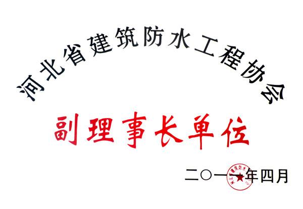河北省建筑防水工程协会副理事长单位